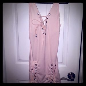 Dresses & Skirts - New used at all Lace up peach dress